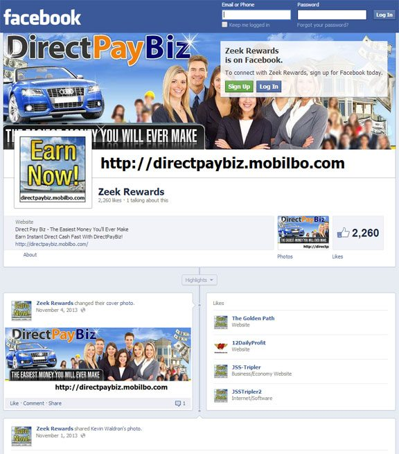 directpaybiz zeek rewards facebook