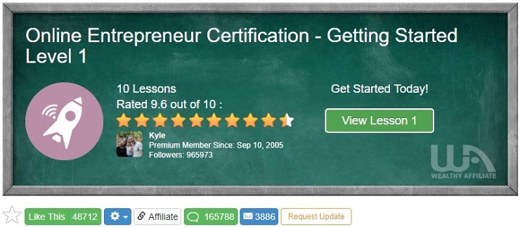 Online Entrepreneur Certification - Getting Started Level 1