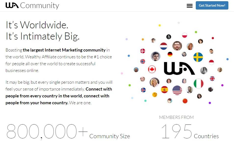 the largest internet marketing community in the world