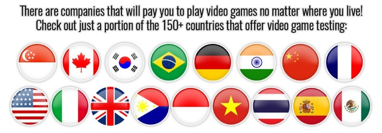150+ countries offer video game testing