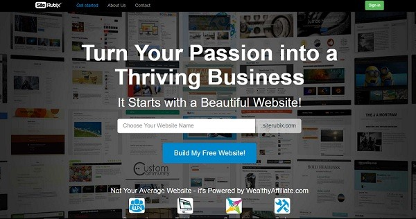 SiteRubix home page