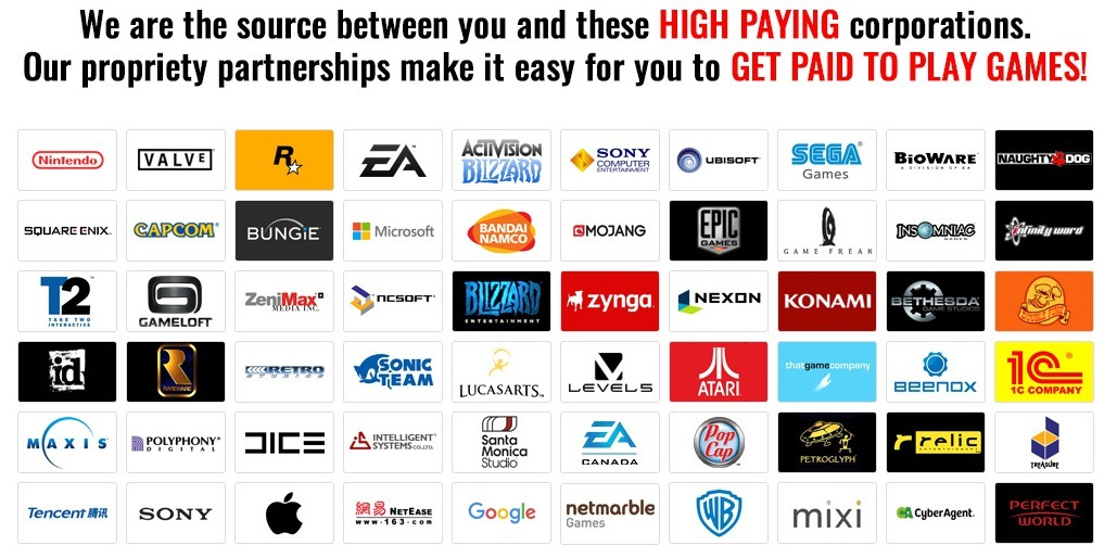 get paid to play video games - corporate partnerships